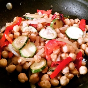 Veggies and Chick Peas Stir Fry